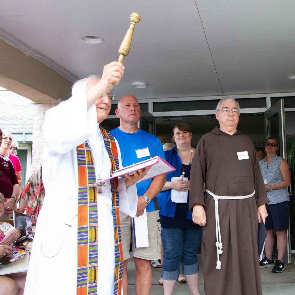Bishop Thomas Gumbleton rededicates the Chapel and Retreat House on July 15, 2018