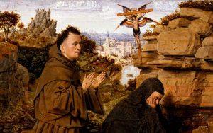 Saint Francis Receiving the Stigmata painting by Jan van Eyck, circa 1430-1432