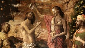 Painting of the Baptism of Jesus by Mategna