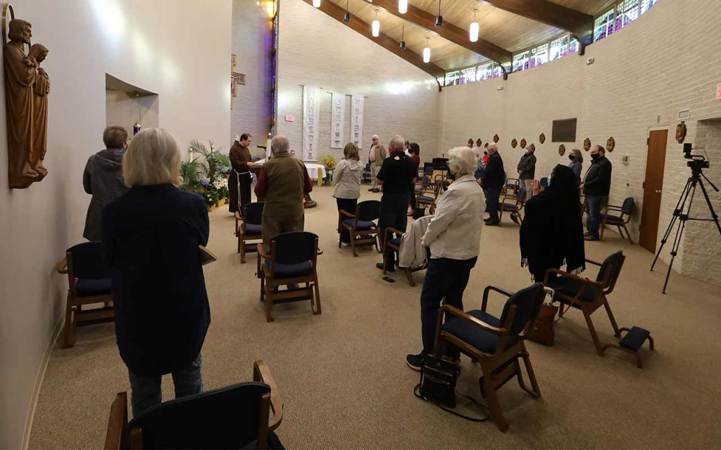 Mass in the Chapel at Capuchin Retreat
