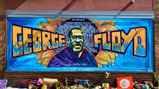 George Floyd mural in Minneapolis