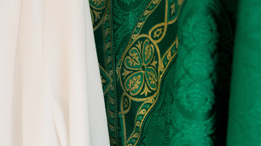Green priestly vestments